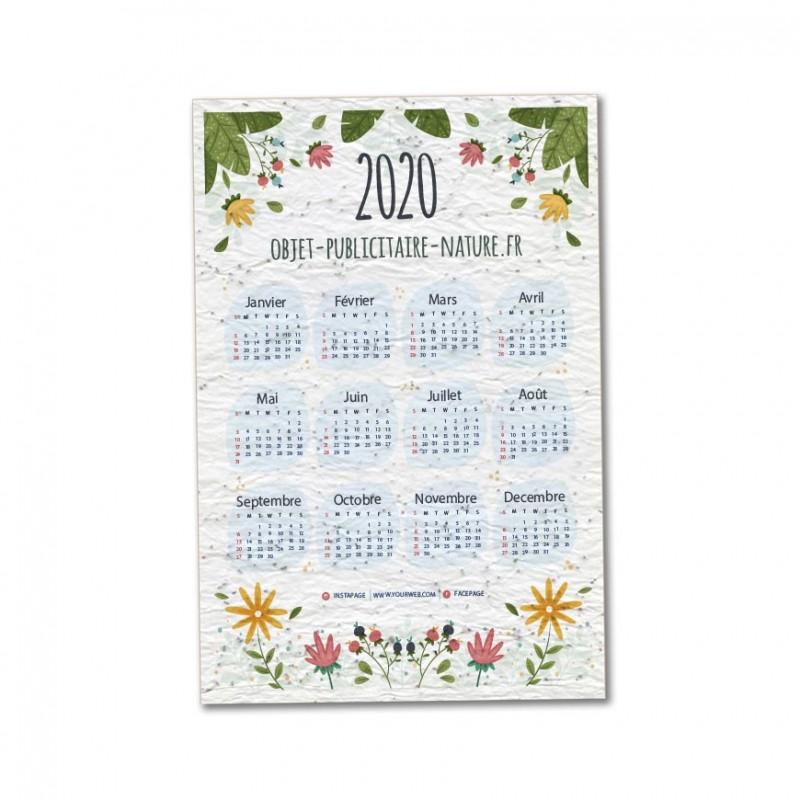 Calendrier Des Semis 2022 Calendrier 2022 imprimé sur papier ensemencé   12 mois