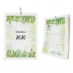 Calendrier 2021 imprimé sur papier à planter - 1 mois/page