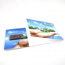 Carte de voeux 21x10 cm avec capsule de graines au choix
