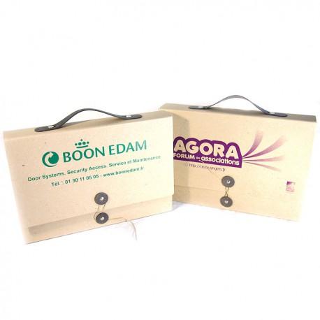 Valisette publicitaire carton recyclé personnalisable