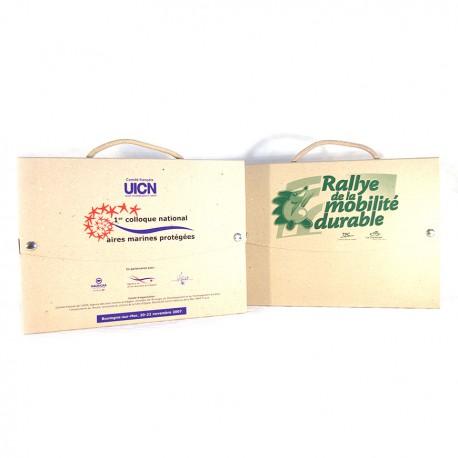 Mallette publicitaire carton recyclé personnalisable