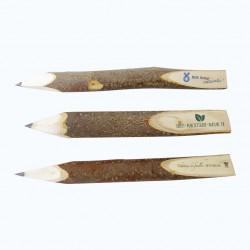 Crayon bois brut avec marquage publicitaire