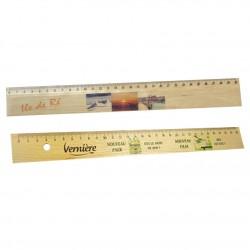 Règle bois publicitaire 30 cm personnalisée
