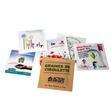 Sachet de graines publicitaire personnalisable petit 55x55 mm