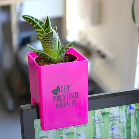 Assez Plante dépolluante publicitaire pot ordinateur - Objet Pub original LY65
