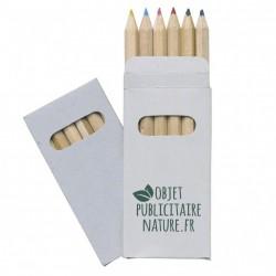 Etui de 6 crayons de couleur en bois