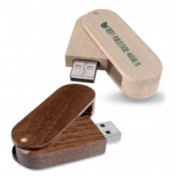 Clé USB publicitaire rotative en bois