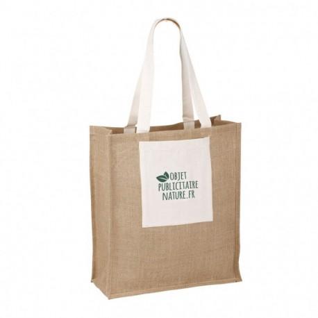 Grand sac publicitaire personnalisable jute et coton