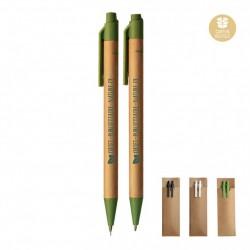 Parure de stylos publicitaires recyclés