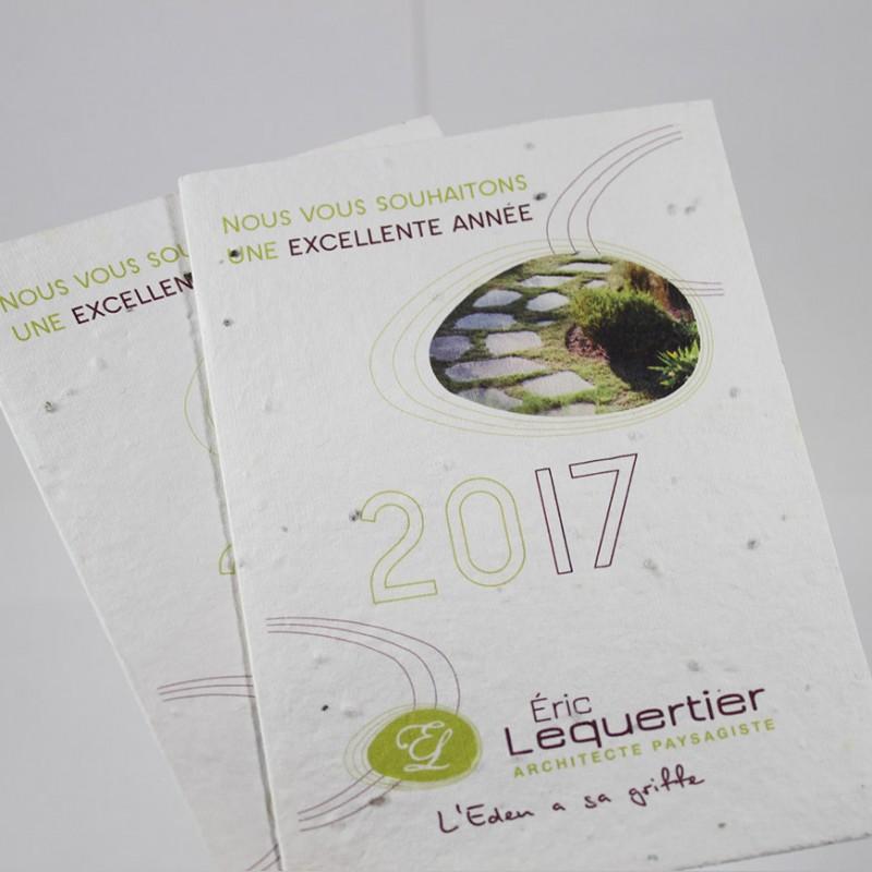 Carte voeux d pliant publicitaire avec graines incorpor es - Carte tntsat gratuite ...