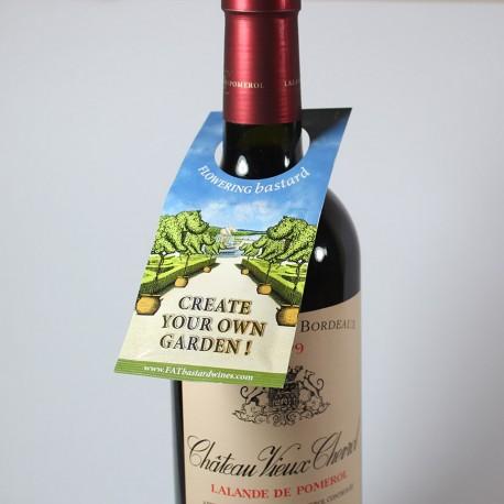 Sachet de graines publicitaire pour bouteille