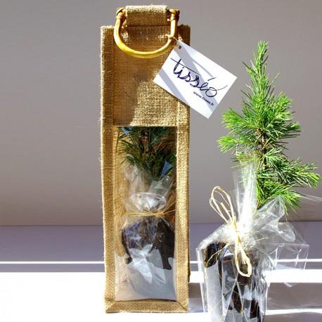 Plant d'arbre publicitaire en sac tissu toile de jute