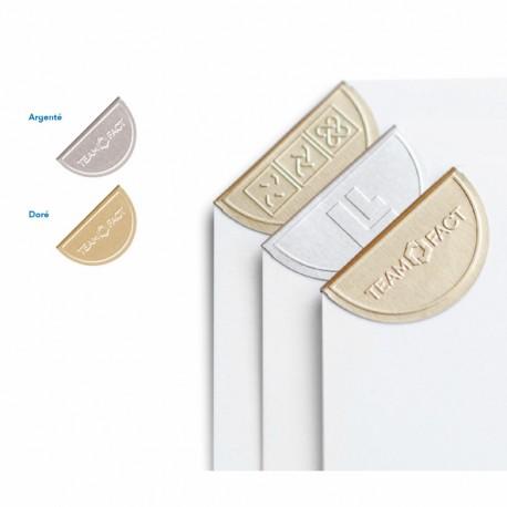 Trombone publicitaire d'angle aluminium gaufré Cornerclips