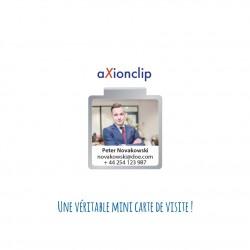 Trombone personnel publicitaire personnalisable - Clip mini carte de visite