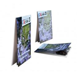 Sachet de graines publicitaire biodégradable 70x105 mm