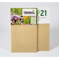 Sachet graines publicitaire papier kraft 70x120 mm avec cavalier personnalisé