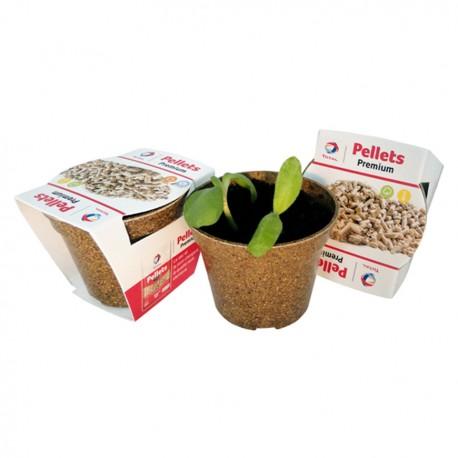 Kit de plantation publicitaire écologique avec pot biodégradable