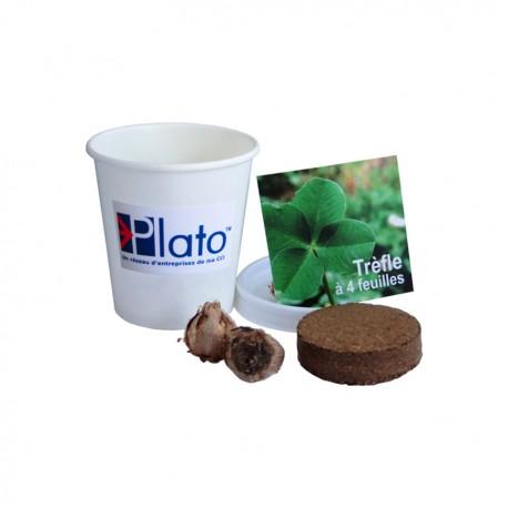 Kit de plantation publicitaire en pot carton personnalisé