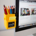 Pot à crayons publicitaire personnalisable pour écran ordinateur