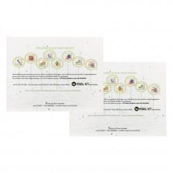 Tapis de semis publicitaire A5 (148x210mm) papier graines incorporées