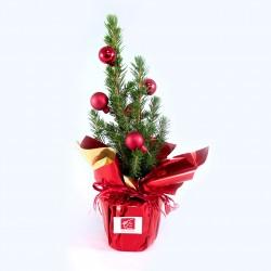 Sapin de Noël avec boules décoratives - Cadeau d'affaire pour Noël