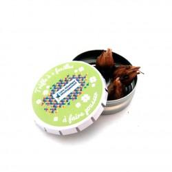 Bulbes de trèfle à 4 feuilles en boîte Clic-Clac publicitaire