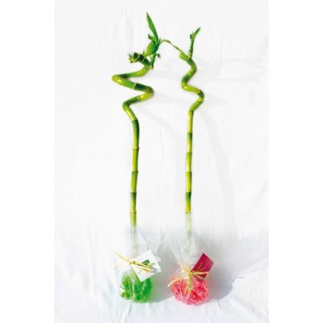 Canne chinoise torsadée - Bambou publicitaire Zen à offrir