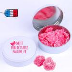 Boîte bonbons personnalisable rose