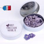 Boîte bonbons personnalisable violette