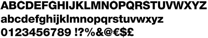 Helvetica Neue LT Std Black