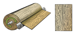 Fabrication carte bois véritable