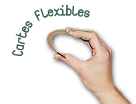 Carte en bois flexible personnalisable