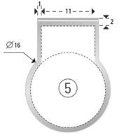 Trombones personnalisés aXionclip forme 5
