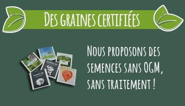 Sachet graine publicité - Sans OGM