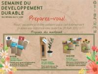 objet publicitaire semaine developpement durable